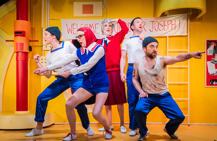 The cast of HMS Pinafore at King's Head Theatre, London. Photo: Robert Workman