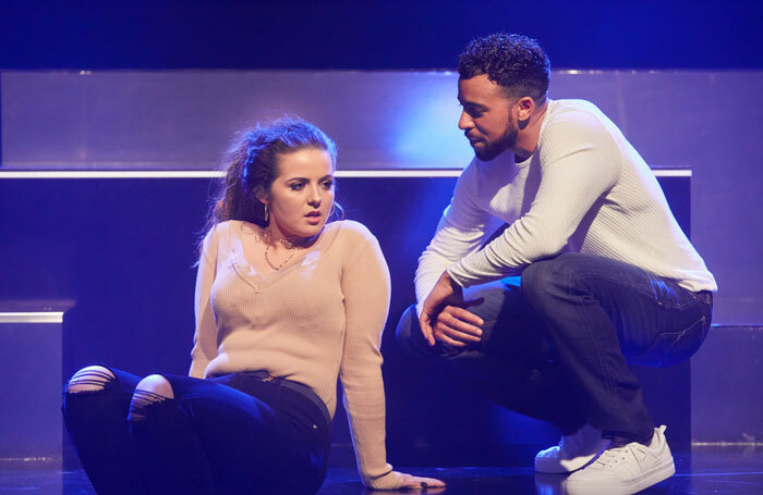 Gabrielle Creevy and Aaron Anthony in Lose Yourself at Sherman Theatre, Cardiff. Photo: Mark Douet