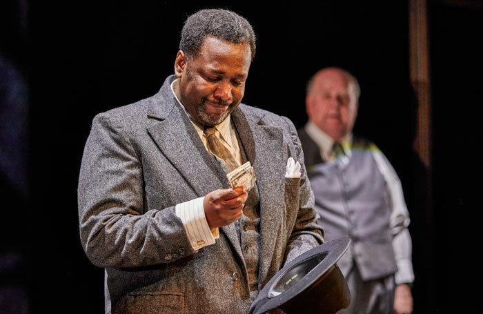 Wendell Pierce in Death of a Salesman at Young Vic, London. Photo: Brinkhoff Moegenburg