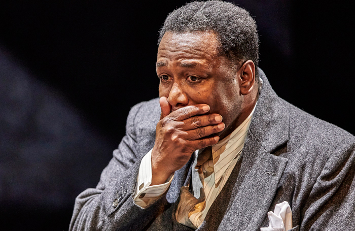 Wendell Pierce in Death of a Salesman at the Young Vic, London. Photo: Brinkhoff Moegenburg