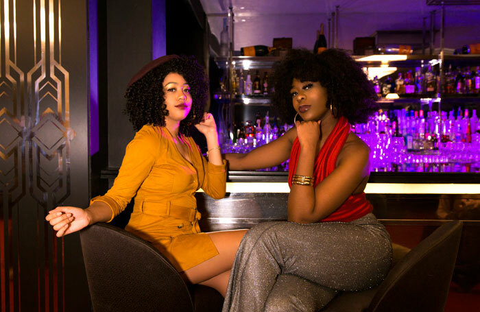 Peace Oseyenum and Hailey Nickai Smith in Supper Freak at the Bloomsbury Ballroom. Photo: Kimmie Hoo