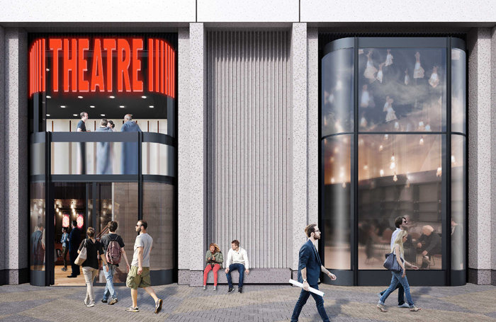 Artist's impression of the new theatre in King's Cross