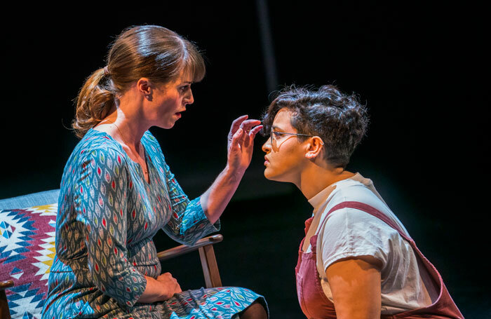 Rachael Lloyd and Eyra Norman in Dido at Unicorn Theatre. Photo: Tristram Kenton