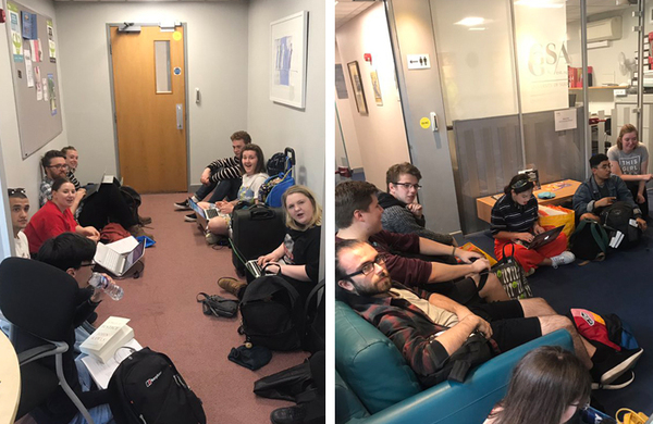 Guildford School of Acting students occupy management building in protest over course cuts