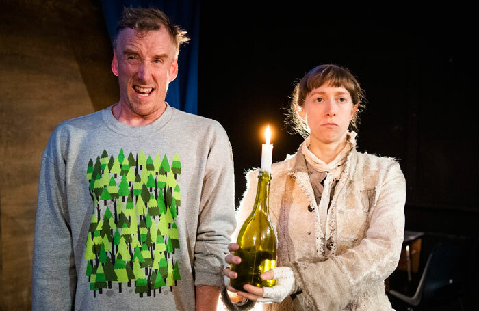 Brian Logan and Shamira Turner in Human Jam at Camden People's Theatre, London. Photo: Tristram Kenton