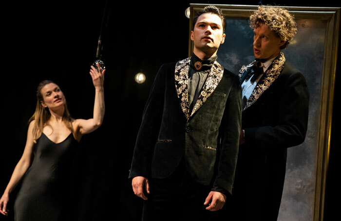 Augustina Seymour, Stanton Wright and Richard Keightley in Pictures of Dorian Gray at Stephen Joseph Theatre, Scarborough