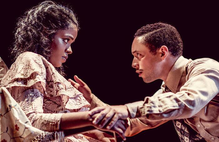 Naima Swaleh and Michael Abubakar in The Glass Menagerie at Watford Palace Theatre. Photo: idil Sukan
