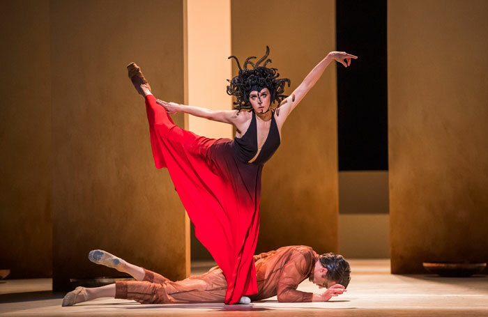 Natalia Osipova and Matthew Ball in Medusa by Sidi Larbi Cherkaoui at Royal Opera House, London. Photo: Tristram Kenton
