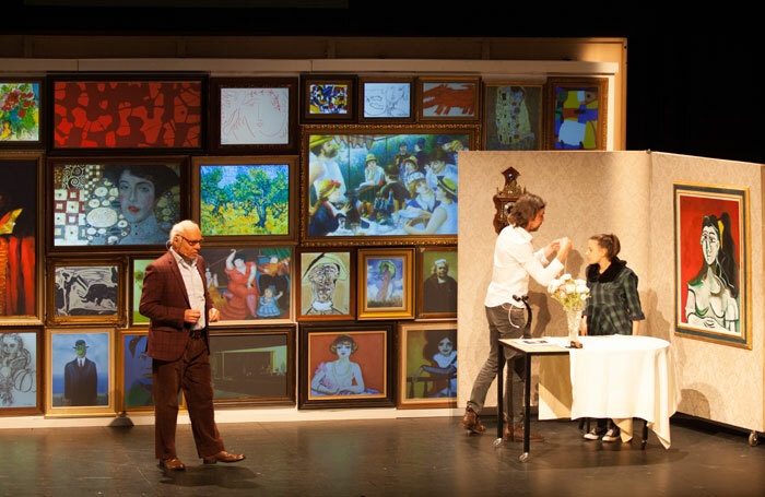 Geert Jan Jansen (left) and cast in True Copy at Attenborough Centre for the Creative Arts, Brighton. Photo: Jen O'Brien