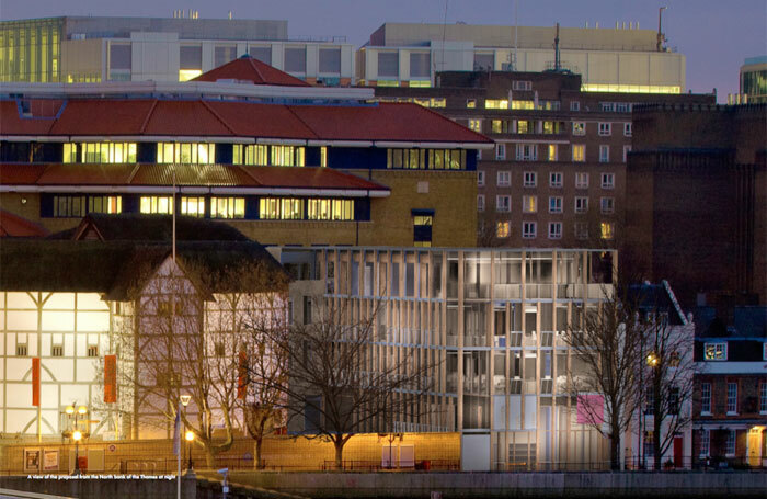 The proposed library extension alongside Shakespeare's Globe – a part of Project Prospero. Photo: Allies and Morrison