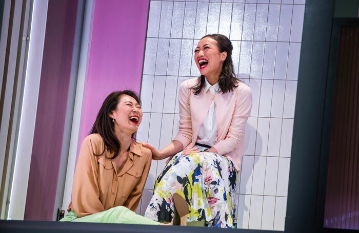 Minhee Yeo and Momo Yeung in White Pearl at Royal Court, London. Photo: Tristram Kenton