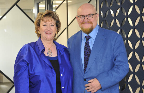 Howard Panter and Rosemary Squire open new Trafalgar Entertainment HQ in Woking