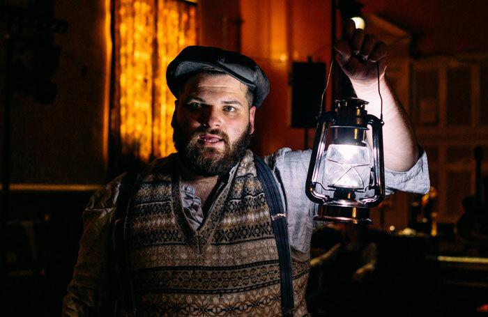 Josh Whitelaw in 549: Scots of the Spanish Civil War at Traverse Theatre, Edinburgh. Photo: Mihaela Bodlovic