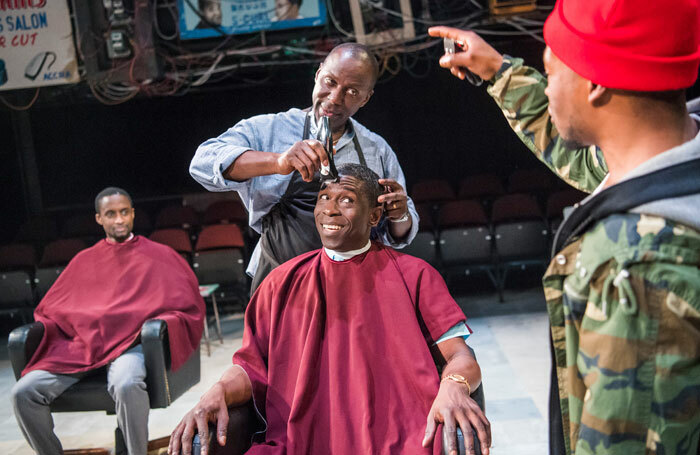 Inua Ellams' Barber Shop Chronicles at the National Theatre – the playwright was supported by independent producer Fuel. Photo: Tristram Kenton