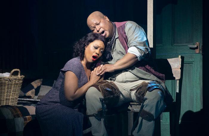 Laquita Mitchell and Musa Ngqungwana in Porgy and Bess at Grange Park Opera. Photo: Richard Hubert-Smith