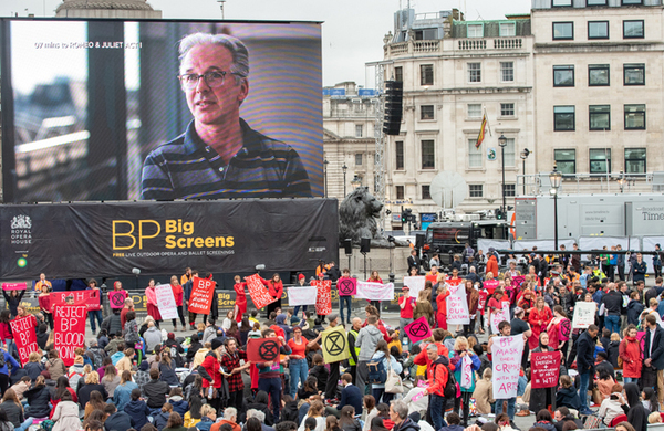 Extinction Rebellion stages mass protest at BP-sponsored Royal Opera House screening
