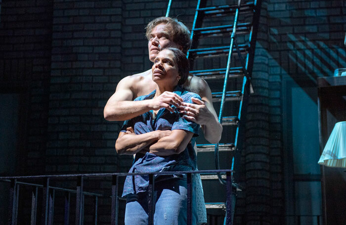 Audra McDonald and Michael Shannon in Frankie and Johnny in the Clair de Lune at the Broadhurst Theatre, New York. Photo: Deen van Meer