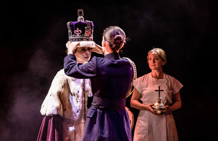 Faye Castelow, Sharon Singh and Lizzie Hopley in The Audience at NST City, Southampton. Photo: The Other Richard