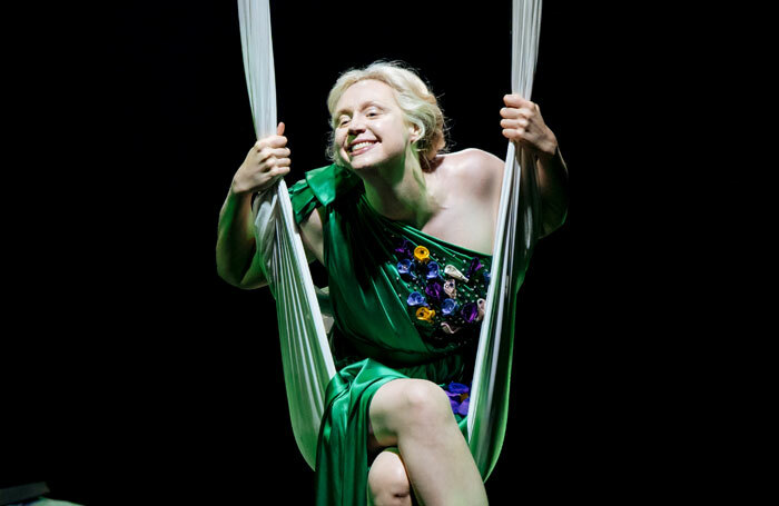 Gwendoline Christie in A Midsummer Night's Dream at Bridge Theatre. Photo: Manuel Harlan