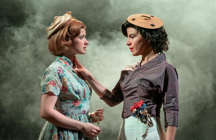 Karen Fishwick and Sirine Saba in Wife at Kiln Theatre, London. Photo: Marc Brenner
