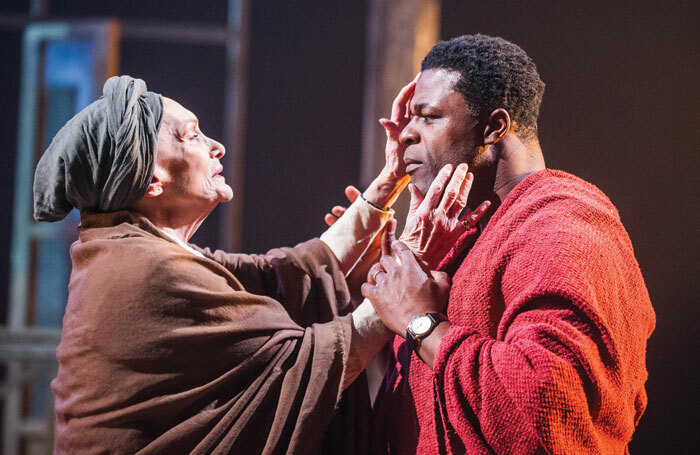Sian Phillips and Danny Sapani in Les Blancs, one of the productions included in the National Theatre Collection. Photo: Tristram Kenton