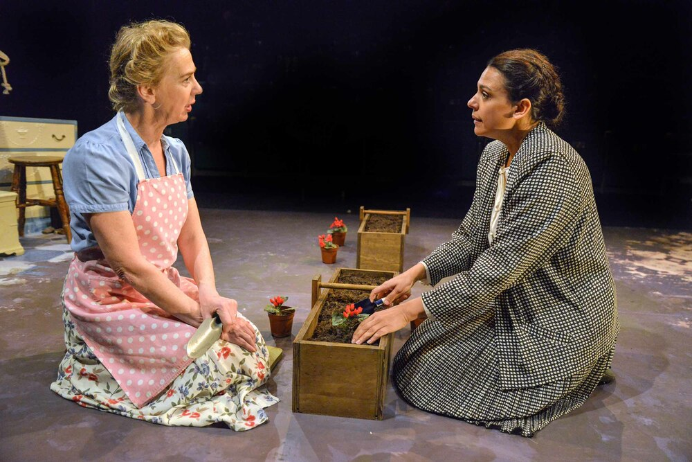 Maggie O'Brien and Asha Kingsley in My Mother Said I Never Should at Theatre by the Lake. Photo: Robert Day.