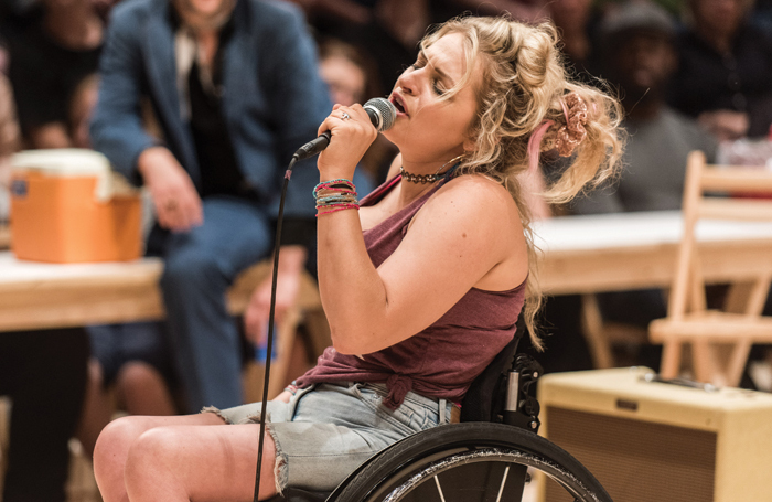 Ali Stroker became the first actor who uses a wheelchair to win a Tony award – for her performance in Oklahoma!. Photo: Teddy Wolff