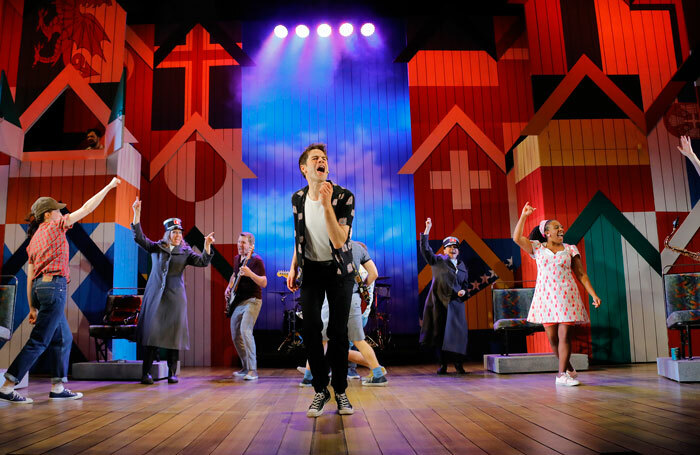 David Rankine and the cast of Summer Holiday. Photo: Douglas McBride