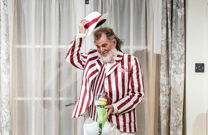 Robert Hayward in Falstaff at the Grange Festival. Photo: Clive Barda