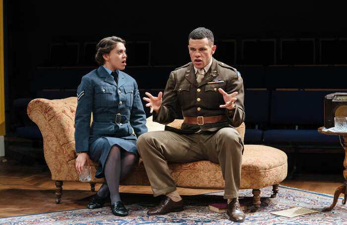 Sabrina Bartlett and Julian Moore-Cook in While the Sun Shines at Orange Tree Theatre, London. Photo: Helen Murray