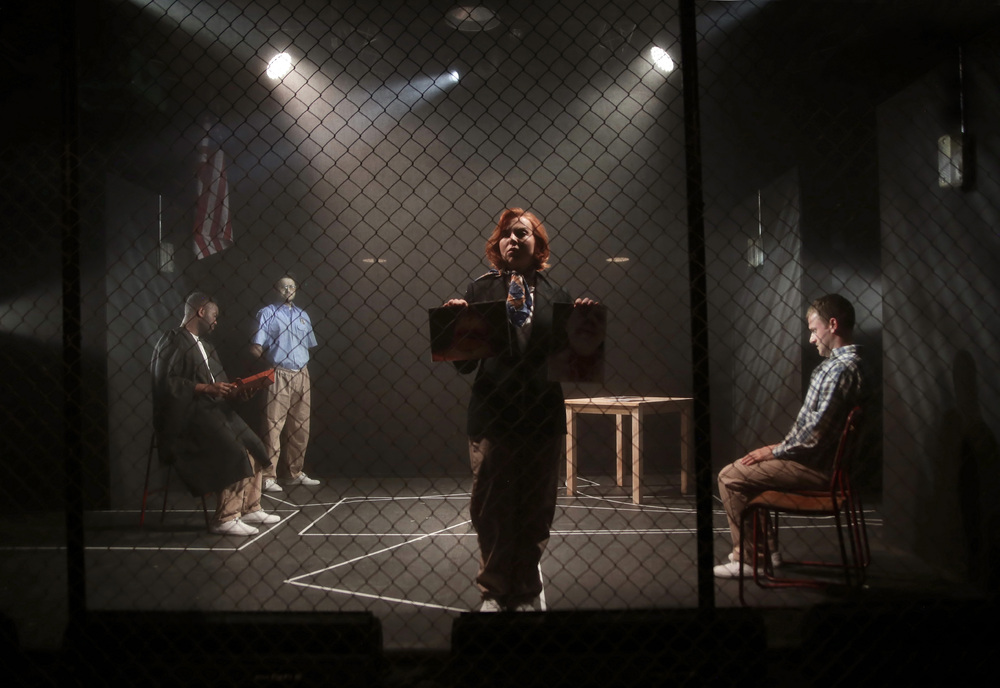 The cast of The Exonerated at Hope Mill Theatre. photo: Shay Rowan