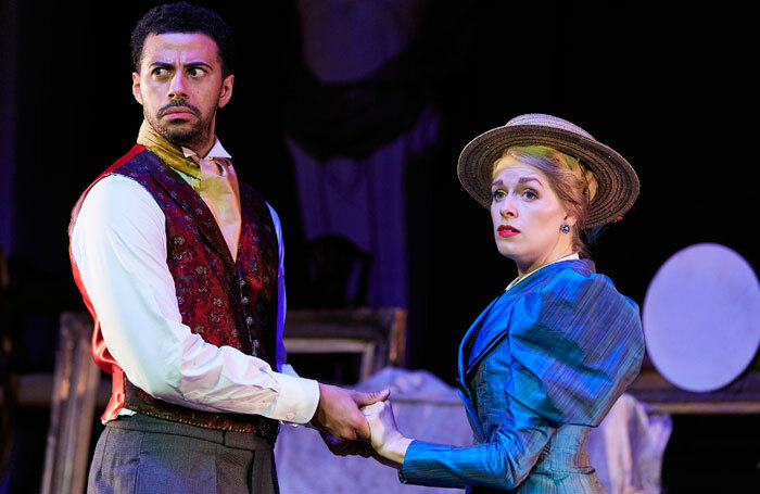 Dean Fagan and Elizabeth Twells in The Importance of Being Earnest at Albert Halls, Bolton