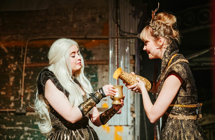 Scene from Games of Thrones parody Dinner Is Coming, an immersive production at the Vaults, London