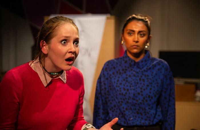 Maisie Preston and Natasha Patel in Cuttings at Hope Theatre, London. Photo: Cam Harle