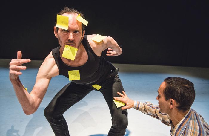 Boaz Barkan in May I Speak About Dance. Photo: Andreas Bergmann