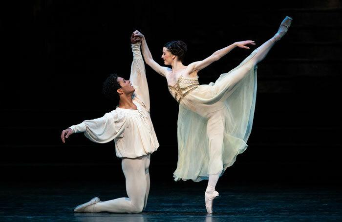 Marcelino Sambé and Anna Rose O'Sullivan in Romeo and Juliet at the Royal Opera House. Photo: Helen Maybanks