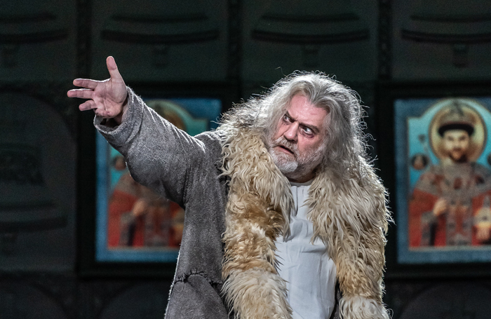 Bryn Terfel in Boris Godunov at the Royal Opera House. Photo: Clive Barda