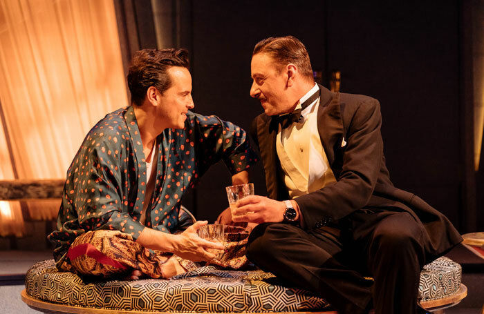 Andrew Scott and Enzo Cilenti in Present Laughter at Old Vic, London. Photo: Manuel Harlan