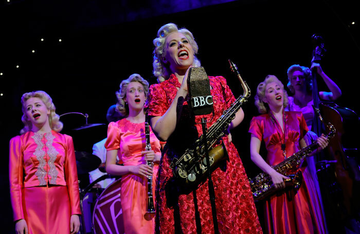 The cast of Blonde Bombshells of 1943 a Pitlochry Festival Theatre. Photo: Douglas McBride