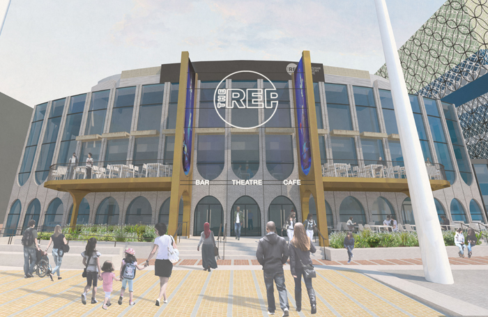 An artist's impression of the redeveloped Birmingham Rep
