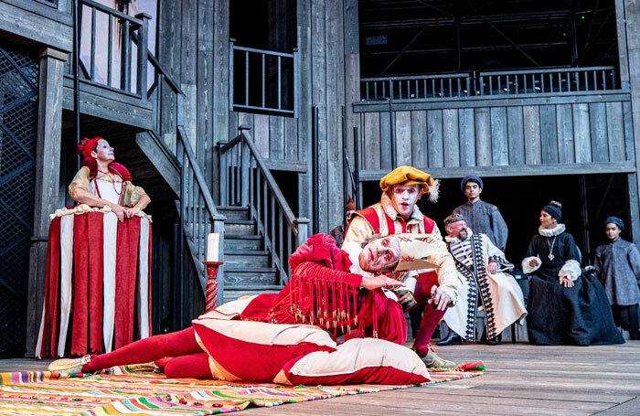 The cast of Hamlet at Shakespeare's Rose Theatre, York. Photo: Charlotte Graham