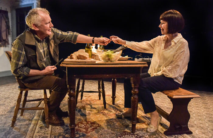 Patrick Driver and Rachel Laurence in The Children at Theatre by the Lake. Photo: Robert Day.
