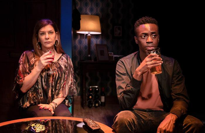 Marina Sirtis and Kwaku Mills in Dark Sublime at Trafalgar Studios, London. Photo: Scott Rylander