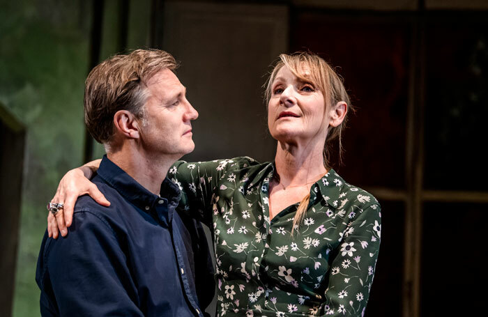 David Morrissey and Lesley Sharp in The End of History at Royal Court, London. Photo: Tristram Kenton