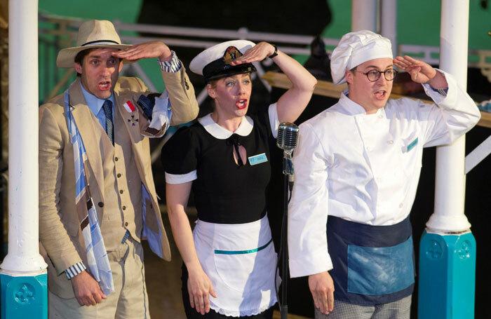 Alex Scott Fairley, Emma Fenney, and Isaac Stanmore in - Twelfth Night. Photo: Steve Porter