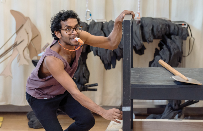 Hiran Abeysekera in rehearsal for The Life of Pi. Photo: Manuel Harlan
