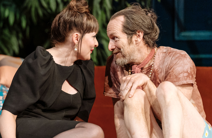 Kathy Kiera Clarke and Denis O'Hare in Tartuffe at the National Theatre. Photo: Manuel Harlan
