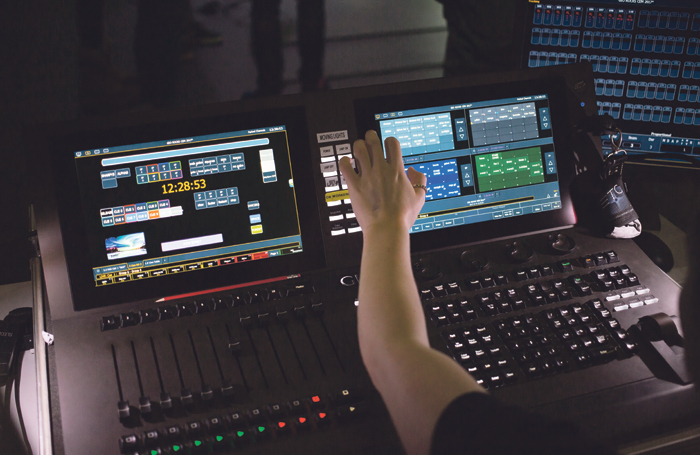 Programming lighting cues can be an arduous process in poor working conditions. Photo: Matt Jessop/Falmouth University