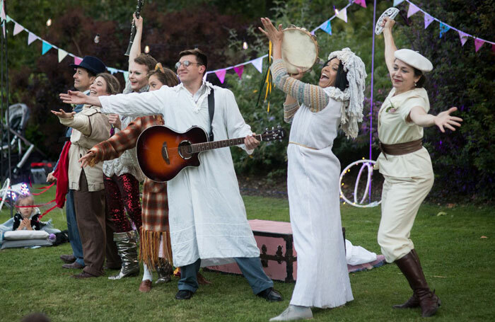 The cast of Shakespeare in Squares' A Midsummer Night's Dream. Photo: James Millar