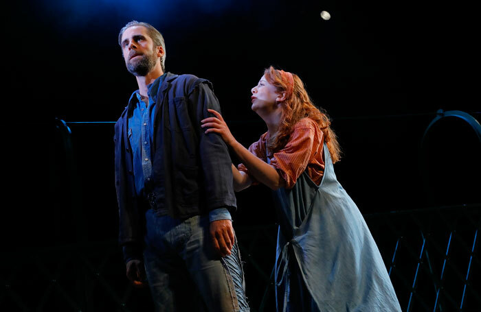 Harry Long and Fiona Wood in The Crucible at Pitlochry Festival Theatre